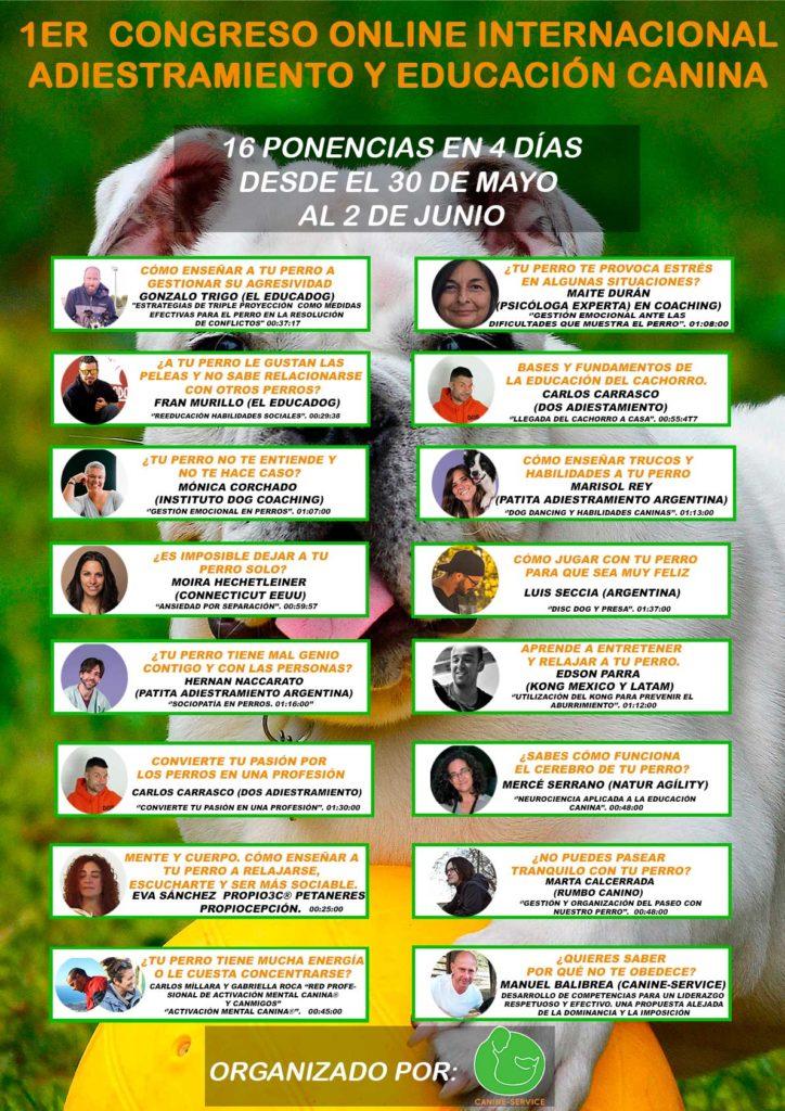 1er Congreso Online Internacional de Adiestramiento y Educación Canina @ Congreso online (vía Hotmart)