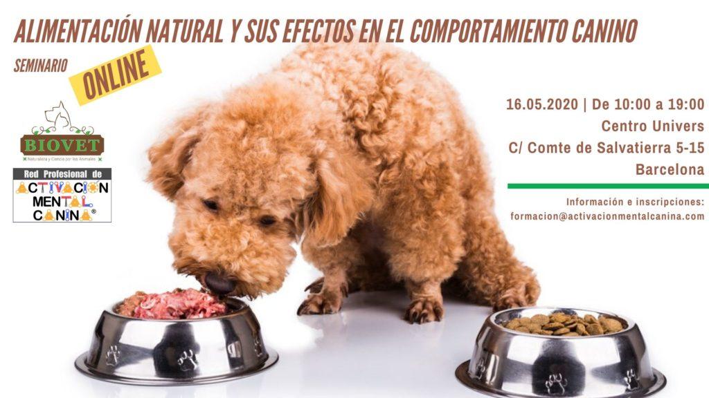 """Seminario ONLINE """"Alimentación natural y sus efectos en el comportamiento canino"""", con la Dra. Mayra Poitena @ Seminario online (vía Zoom)"""